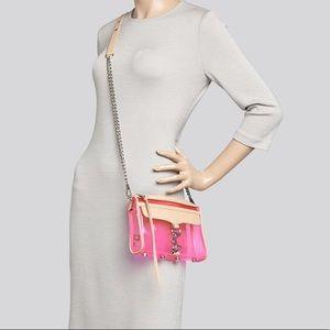 Rebecca Minkoff pink clear crossbody purse
